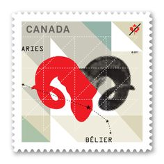 Canada Post Aries Stamp