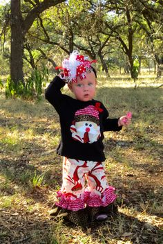 Wild Santa Outfit...Double Ruffle Pants and by ThreeWildGirls, $42.50