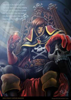 Captain Harlock by ~ekoputeh on deviantART