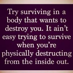 With #hashimotos and #hypothyroidism you're trying to survive in a body that wants to destroy you. It's aren't easy! An ultimate goal of any #thyroid treatment is to become... https://www.instagram.com/p/BPYNh-GDcfM