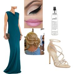 Teal Lovely by sarabray on Polyvore featuring polyvore fashion style Maria Grachvogel Ivanka Trump philosophy
