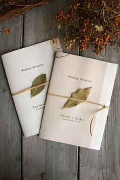 席次表(月桂樹・メニュー付き) - ジィール オンラインショップ Minimalist Wedding Invitations, Simple Wedding Invitations, Wedding Invitation Design, Wedding Paper, Wedding Cards, Diy Wedding, Wedding Signage, Wedding Programs, Wedding Graphics