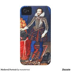 Medieval Portrait iPhone 4 Covers #Medieval #Portrait #Historical #Vintage #Art #Mobile #Phone #iPhone #Galaxy #Cover #Case