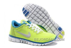Buy Nike Free Fluorescent Green Blue Running Shoes with best discount.All Nike  Free Mens shoes save up.
