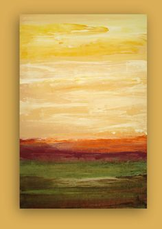 "Abstract Acrylic Painting on Gallery Canvas Titled: EARTHY MOSS 24x36x1.5"" by Ora Birenbaum"