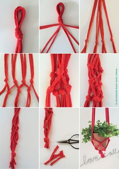 porta macetas colgante paso a paso- Itself make a plant hanger - explanations and step-by-step photos Diy Hanging, Hanging Plants, Apartment Decoration, Diy And Crafts, Arts And Crafts, Plant Holders, Diy Projects To Try, Plant Hanger, Making Ideas