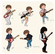 Disco Deaky art featuring one Brian May Discografia Queen, Queen Art, I Am A Queen, Save The Queen, Queen Drawing, Queen Meme, Queen Photos, Ben Hardy, Queen Freddie Mercury