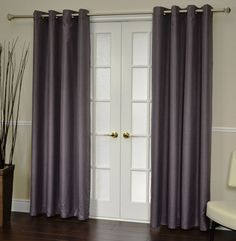 How to Make Curtains for French Doors - for more French Door Curtain Ideas visit www.homeizy.com/french-door-curtain-ideas/