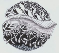"""Find """"Jo in NZ"""" and follow her Zentangles creations! She's amazingly, consistently original, pushing the art form while true to its core."""