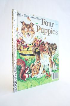 Four Puppies A Little Golden Book by Anne Heathers 1960.  by TheVintageRow