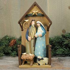 Peaceful Night Nativity Figurine