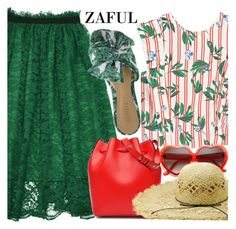 """Zaful"" by fattie-zara ❤ liked on Polyvore featuring MANGO"