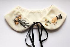 A Friendship Between Worlds // Hand Embroidered Peter Pan Collar by İrem Yazıcı