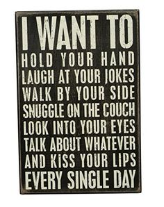 Primitives by Kathy Box Sign, I Want to, 8 by 12-Inch