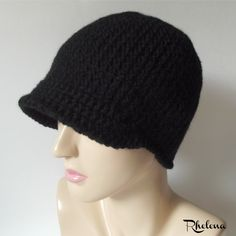 Free extended single crochet cap pattern. The cap is perfect for cooler weather in the fall or winter. Plus it helps to keep the sun out of your eyes. Crochet Cap, Free Crochet, Single Crochet, As You Like, Ravelry, Crochet Patterns, Beanie, Hats, Weather
