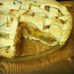 White nectarine & peach pie. I've been working on my baking skills and pie crusts have been my bane for as long as I can remember. I finally found a recipe and technique that deliver crisp, flaky crust!!!
