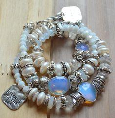 ON SALE opal bracelet sterling bracelet sea by soulfuledges