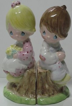 Precious Moments Salt and Pepper Shakers