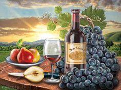 """""""Bordeaux"""" by Rosiland Solomon"""