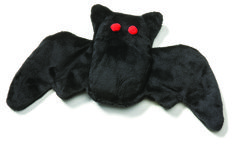 #Bat for dogs is sure to scare up some #Halloween fun. A robust squeaker and recycled fiber fill make this unique handcrafted dog toy a perfect treat.