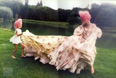 1997-98 John Galliano for Christian Dior Couture dress - 'At That Time' from Vogue Italia September 1997 feat Michele Hicks