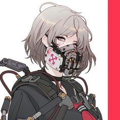 Cyberpunk Schoolgirls - Before she became a revolutionist, she was a ruthless humanoid soldier.When she saw her colleagues being used and… Cyberpunk Kunst, Cyberpunk Anime, Cyberpunk Character, Anime Art Girl, Manga Art, Aesthetic Art, Aesthetic Anime, Cyberpunk Aesthetic, Arte Obscura