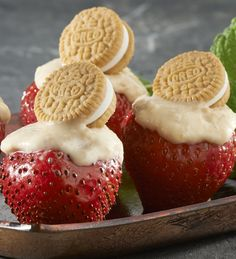 Tangy Lemon-OREO Strawberries are easy to prepare, easy to pack, and even easier to love.
