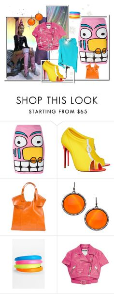 """Untitled #1942"" by pampire ❤ liked on Polyvore featuring Jeremy Scott, Sophia Webster, Christian Louboutin, Orciani, Madison Precious Jewels, Alexis Bittar, Moschino and Roland Mouret"