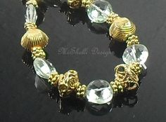 Green Quartz Vermeil Gemstone Bracelet