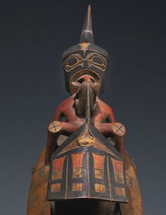 Northwest Coast Polychromed Wood Shaman's Rattle | Sotheby's