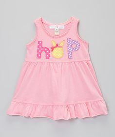Love this Pink 'Hop' Empire-Waist Tank Dress - Infant, Toddler & Girls by little bits on #zulily! #zulilyfinds