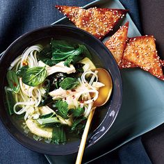 For a quick dinner that's full of distinctive Thai flavor, offer Thai Chicken Soup.