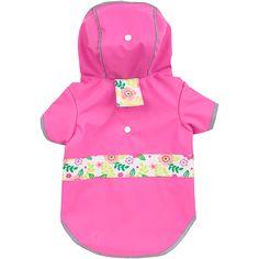 Petco Reversible Pink Dog Raincoat
