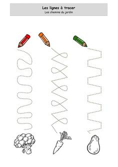 Jeu : tracer Tracing Worksheets, Worksheets For Kids, Pre Writing, Preschool Kindergarten, Fine Motor Skills, Pre School, Learning Activities, Kids And Parenting, Crafts For Kids