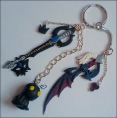Kingdom Hearts: Heartless Keyblades Keyring