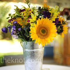 i love sunflowers and were having an outdoor wedding so i wanna keep it simple