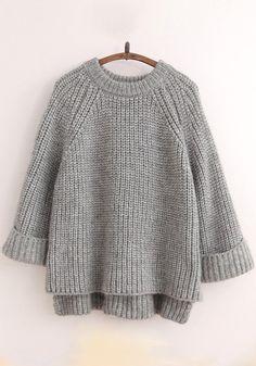 simple minimal knitted jumper -