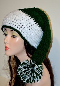 Crochet Christmas Hat. Santa Hat. Unisex Santa Hat by Africancrab, $18.00 wow, this is lovely!