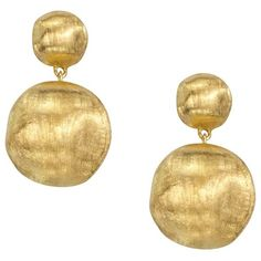 Marco Bicego Africa Collection 18K Yellow Gold Bead Drop Earrings (€1.190) ❤ liked on Polyvore featuring jewelry, earrings, gold earrings, marco bicego earrings, gold beaded jewelry, 18 karat gold jewelry and gold jewellery