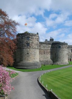Skipton Castle, North Yorkshire, England, built in 1090 by Robert de Romille, a Norman baron and has been preserved fro over 900 years