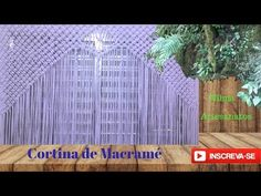 Macramé passo a passo - Cortina de macramé rápido e fácil-c/malha - YouTube Macrame Curtain, Macrame Bag, Macrame Knots, Ribbon Embroidery, Crafts, Youtube, Ribbon Curtain, Yarn Crafts, Rope Crafts