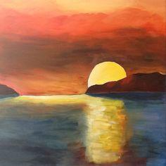 My painting sunset