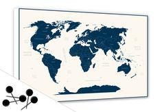 Memoboard Weltkarte - Behalten Sie den Überblick! | wall-art.de