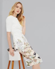 """GOSSIP-WORTHY STYLE  """"Ah man. I hate that I'm the best dressed in this whole room"""" - said no woman, ever. Read more on the blog Can You Keep Up with the Bakers? Liberte Style // Ted Baker // Spring Dress // Girls Day Outfit // Wedding Outfit"""