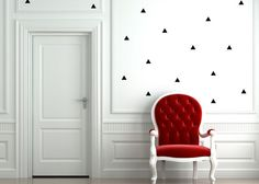 Hey, I found this really awesome Etsy listing at https://www.etsy.com/listing/208628031/mini-triangle-wall-decal-chic-home-decor