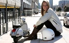 Vespa PX 125 and girl wallpapers and images - wallpapers, pictures ...