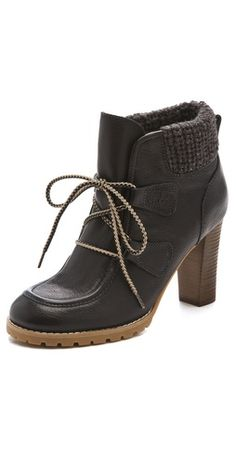 Wow, kinda like 3 differest shoes in one! - Pretty!! See by Chloe High Heel Wallabee Booties