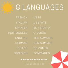 How to say summer in 8 languages
