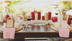 rustic wedding // virginia bridal magazine // styled shoot // country side // menus winedanddesigned.com