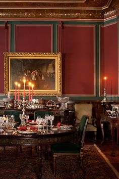 The ballroom, dining room, and parlor are decorated and furnished appropriate to circa 1870.